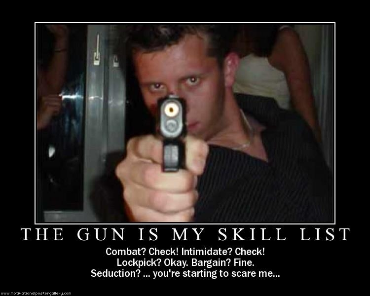 The gun is my skill list